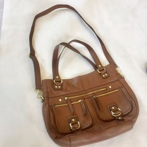 Etienne AIgner Honey Brown Leather Crossbody